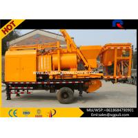China 37kw Motor Static Concrete Pump , Mobile Batching Plant For Construction wholesale