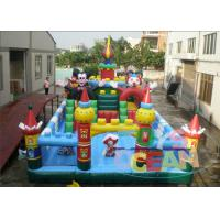 Quality Kids Funny Amusement Inflatable Obstacle Playground Equipment With Slides for sale