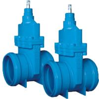 China EKB Resilient Seated Solid Wedge Gate Valve WCB Valve Body With Socket Ends wholesale