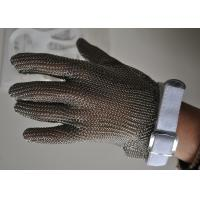 Buy cheap 304L Stainless Steel Gloves Anti - Cut Safety Butcher Glove For Cutting Meat from wholesalers