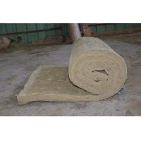 China Residential Rockwool Insulation Blanket With Wire Mesh / Fiberglass Cloth wholesale