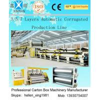 China 100 Pieces / Min 5 Layer Corrugated Cardboard Production Line 1800mm Width wholesale