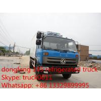 China dongfeng brand LHD/RHD 10-12ton refrigerated truck for sale, best price freezer van truck for fresh fruits and vegetable on sale