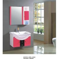 China 80 X47/cm hanging cabinet / PVC bathroom cabinet / wall cabinet  / white color for sanitary ware wholesale