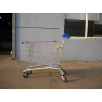 232L Zinc Plated Supermarket Shopping Cart Trolley High Capacity