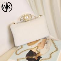 China Pearl Decorative dinner clutch bag  Effect Bride fashion evening bag For ladies elegant wholesale clutch bags China wholesale