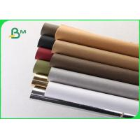China Washed Kraft Liner Paper / Hand - Washed Kraft Paper 150cm X 110 M For Wallets wholesale