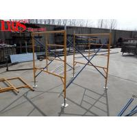 China Professional Mason Ladder Frame Scaffolding 4' × 5' Yellow Powder Coated wholesale