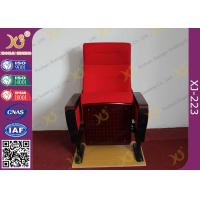 China Modern Conference Room Chairs With Writing Pad In Arm / Metal Frame wholesale