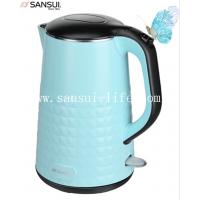 China SANSUI YY-17B-02 beautiful blue double anti-scald Diamond pot, 304 stainless steel electric kettle on sale