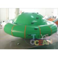 China Outdoor Garden Saturn Rocker Water Blow Up Toys With Repair Kits Bag wholesale