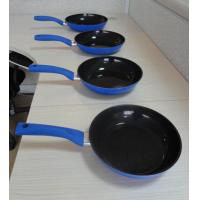 China Blue Nonstick Aluminum Fry Pan For Induction Stovetop OEM wholesale