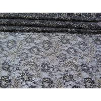 China Vintage Metallic Lace Fabric Blue , Nylon Tulle Floral Lace Fabric SYD-0002 wholesale