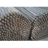 China SS304 316 316L Spiral Wire Metal Mesh Belt High Temperature Resistance wholesale