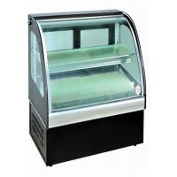 China Curved Glass Food Showcase Refrigerator Bakery Display Cases Easy Installation wholesale