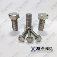 China AL6XN China fastener stainless steel full thread hex head bolt wholesale