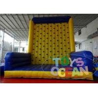 China Children Outdoor Inflatable Interactive Games Climbing Walls For Rent wholesale