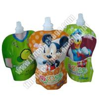 China beverage packaging bags with spout, plastic liquid milk spout bags, energy drink juice packaging material wholesale