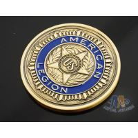 China Custom Logo Soft Enamelled US 3D effect Challenge Coins Antique gold With Soft Enamel Both side wholesale