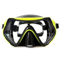 China Food Grade Silicone Snorkel Mask , Anti-fog Diving Mask for Adult wholesale