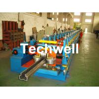 China 2.0-3.0mm Heavy Duty Upright Racking / Shelf Roll Forming Machine With JH21-80 Ton Press Machine To Punch Holes wholesale