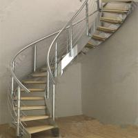 China Modern Luxury  Steel Curved Structure Staircase wholesale