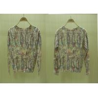 China Fancy V Neck Wool Womens Cardigan Sweaters with Shoes Printed in Multi colors wholesale