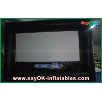 China Outdoor Black and White Inflatable Projector Movie Screen Oxford Cloth wholesale