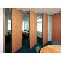 China Commercial Hard Cover Acoustic Fabric Sliding Partition Doors For Office / Conference Room wholesale