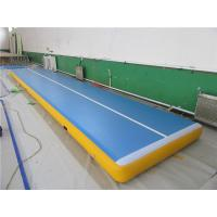 China Digital Printing Gymnastics Bouncy Mats , Outdoor Tumble Track Trampoline No Noise wholesale