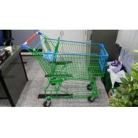 Quality Supermaket 150L Wire Shopping Trolley With Advertisement Board for sale