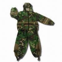 China Children's Rain Suit with Camouflage Rotary Printing wholesale