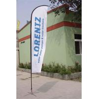 Double / Single Side Printing Outdoor Advertising Sail Banners 100% 110g