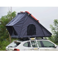 China Family Camping SUV Hard Shell 125cm 4x4 Roof Top Tent with Telescopic Ladder wholesale