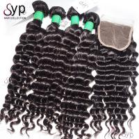 Virgin Brazilian Remy Hair Bundles Deep Wave Can Be Colored No Terrible Smell