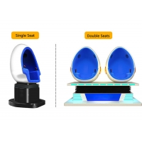 China 2 Person 9D Cinema Simulator / Electric System Virtual Reality Egg Chair wholesale