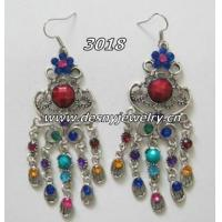 Quality New style alloy ladies rhinestone dangle drop earrings E120 with custom design for sale