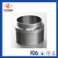 China Unpolished  Sanitary Clamp Fittings Male NPT  Weld End Adapter 19WB on sale