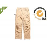 China Outdoor Brown Tactical Combat Pants With Metal Pulls And Teeth Front Zipper on sale