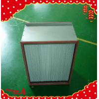 China 484x484x120mm aluminum frame separator pleated clean room high temperature air filter wholesale