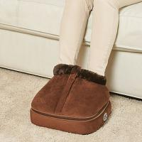 China Brown Color Shiatsu Foot Warmer Massager Size 32 * 30 * 13cm High Safety Performance wholesale