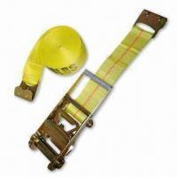 China Tie-down Straps and Cargo Nets with Precise Tension Adjustment, Available in Yellow wholesale