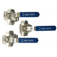 "China 1/2"" to 2"" Stainless Steel 304 316 flow Control ""T"" and ""L"" Type  3  way diverter ball valve wholesale"