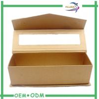China  Magnetic Golden PET Window Gift  Boxes Roll Embossed Texture  for sale