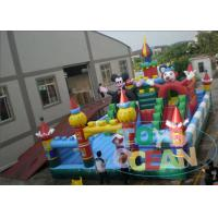 China Kids Funny Amusement Inflatable Obstacle Playground Equipment With Slides wholesale