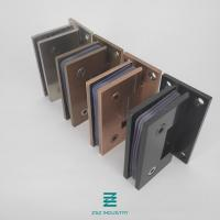 China Stainless Steel 304 Powder Coating, Chroming Surface Treatment Glass Door Hinges Slanted 90 Degree to Wall W55mm x H90mm wholesale