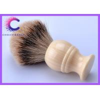 China Ivory handle silvertip badger shave brush men's grooming tools 20mm wholesale