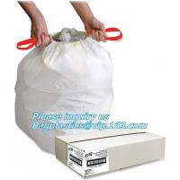China drawstring trash bags on roll disposable bag in compostable, biodegradable compostable drawstring non plastic trash bag on sale