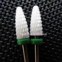 """Quality Flame Shape Green color 3/32"""" Shank Ceramic Nail Polishing bur for Art Manicure for sale"""