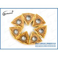 China Tungsten Carbide Inserts to cut Limestone blocks in quarries with yellow coating on sale